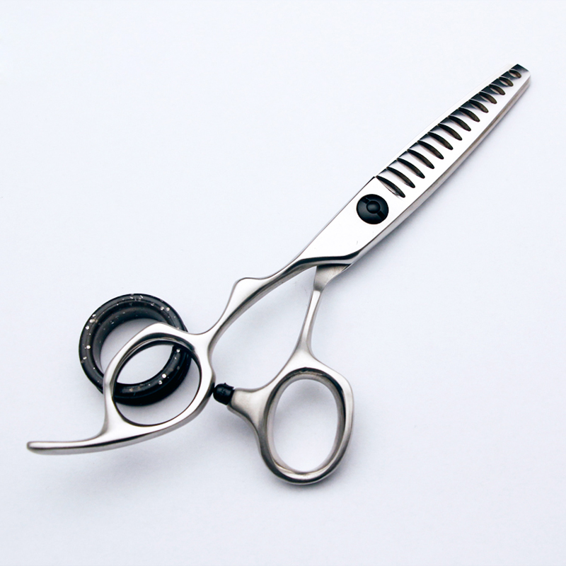 Left Hand 5.5 Inch 440C Shark Teeth Hairdressing Thinning Scissors