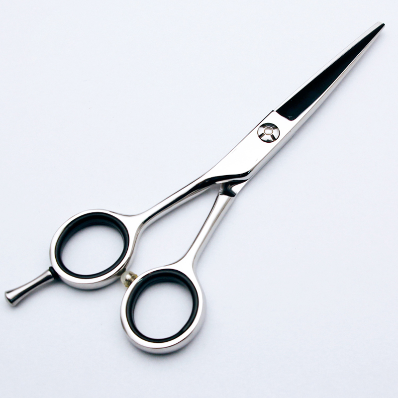 Lefty 5.5inch Best Stainless Steel Barber Hairdressing Straight Shear Thinning Scissors